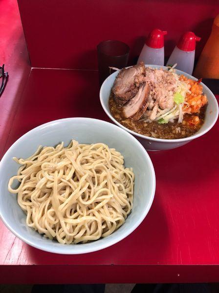 「小ぎょったまつけ麺野菜油ニンニク少し」@ラーメン二郎 中山駅前店の写真