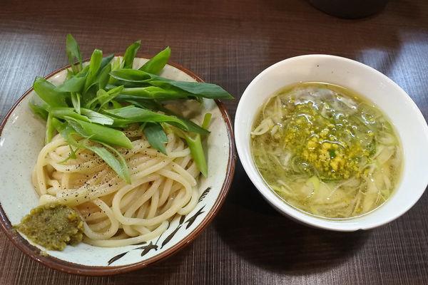 「【冬季限定】柚子塩つけ麺(小)¥900」@自家製麺 じゃじゃ。の写真