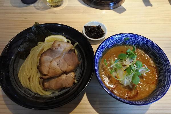 「【限定】担々つけそば¥850+香味辛¥50」@麺屋 必道の写真