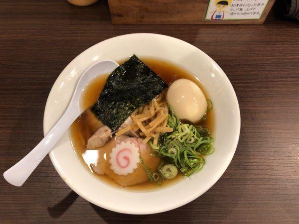 「醤油ラーメン 味玉」@麺や 河野の写真