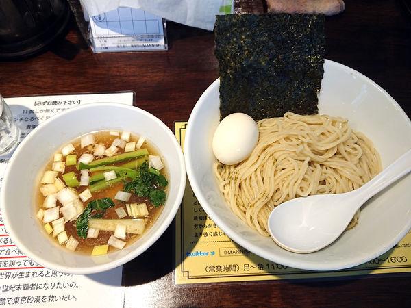 「限定 昆布水のつけ麺」@塩生姜らー麺専門店MANNISHの写真