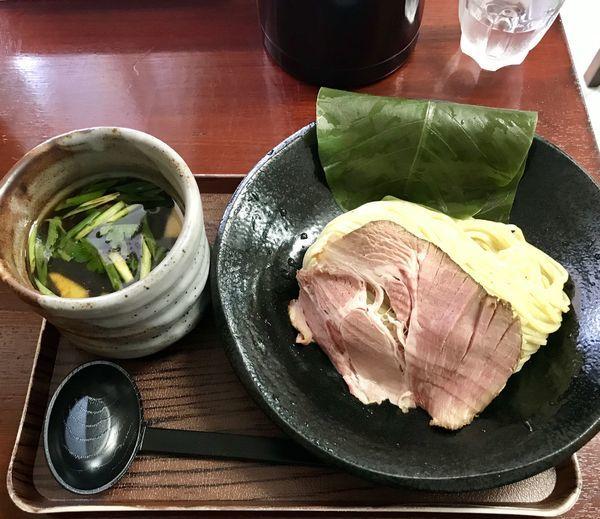 「葉、薫るつけ麺 しいたけ出汁」@創作麺処 スタ★アトの写真