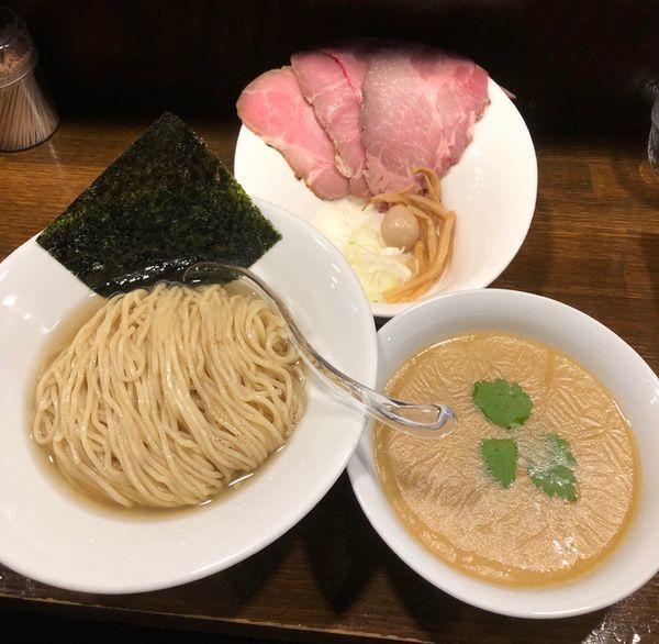 「鯛塩・鰹昆布水つけ麺¥750」@Soupmenの写真