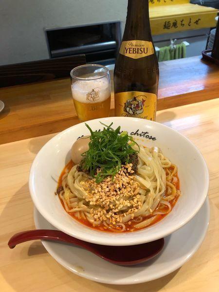 「汁なし担担麺¥880 with beer」@麺庵ちとせの写真