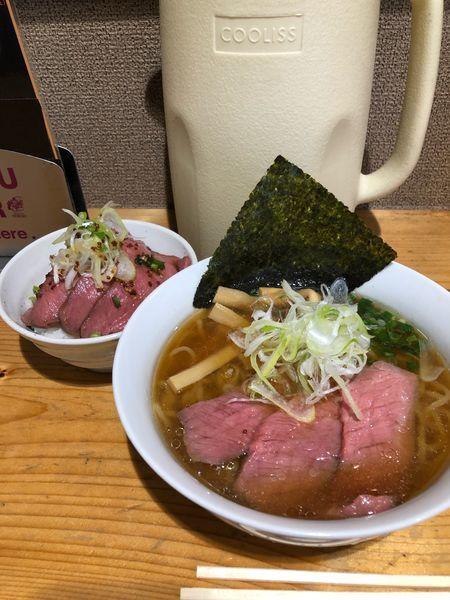 「らーめん&チャー牛丼」@らーめん 大木の写真