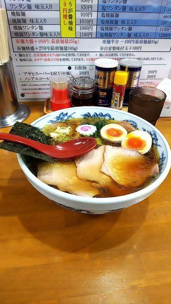 「焼豚麺+味玉 生姜醤油」@とら食堂 松戸分店の写真