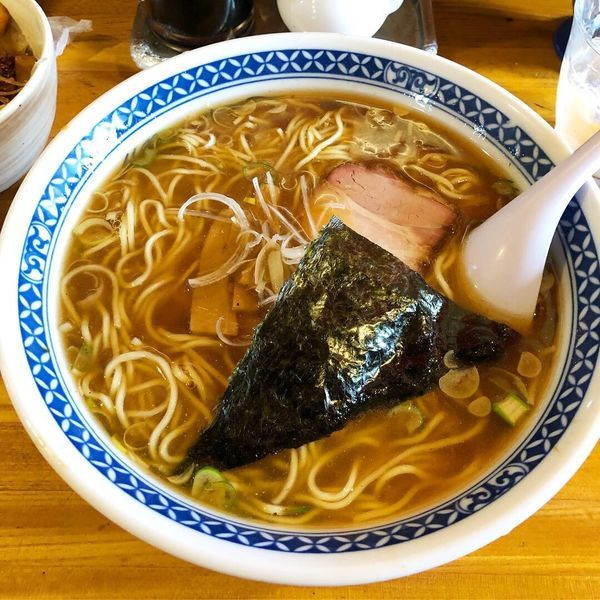 「ラーメン  魚介スープ」@おかめの写真