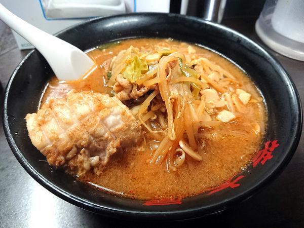 「味噌野菜麺+チャーシュー」@元祖旨辛系タンメン 荒木屋の写真