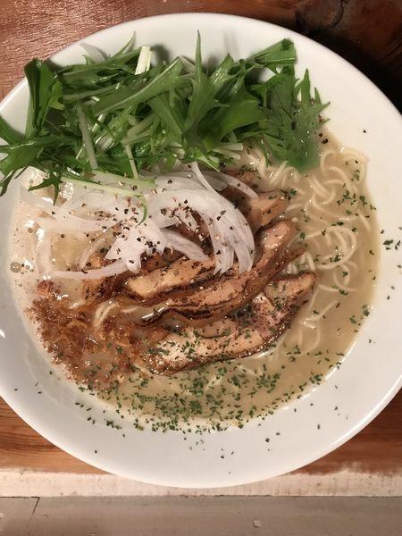 「トリソバ塩大盛(¥950)」@natural taste cafe analogの写真