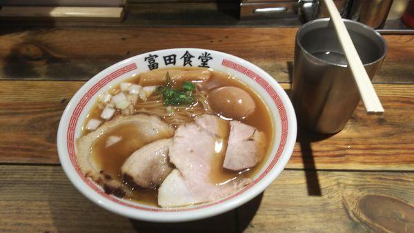 「特製煮干しそば」@松戸中華そば 富田食堂の写真