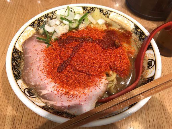 「すごい煮干しラーメン30辛【830円】」@すごい煮干ラーメン凪 五反田西口店の写真