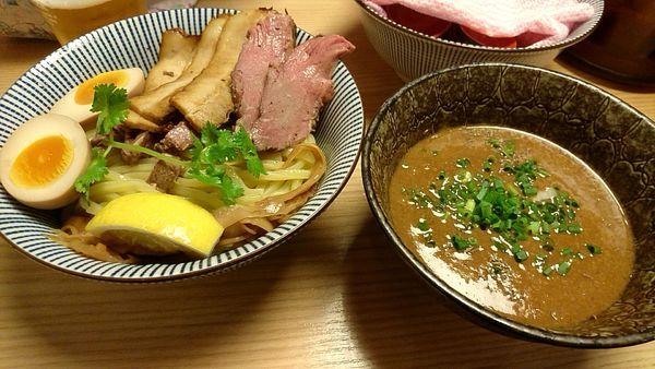 「仔羊醤油つけめん 780円」@自家製麺 MENSHO TOKYOの写真