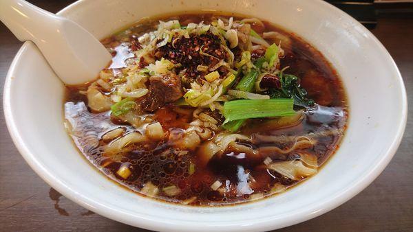 「マーラー牛肉刀削麺 大盛」@味蔵の写真