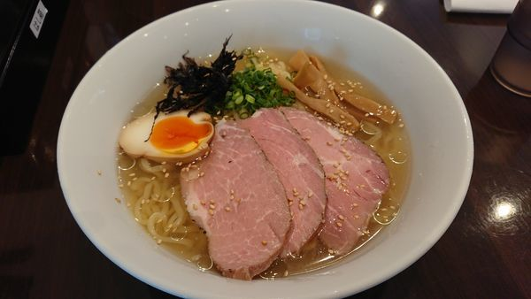 「鶏と魚介の冷やしらーめん@850円」@麺屋 志縁の写真