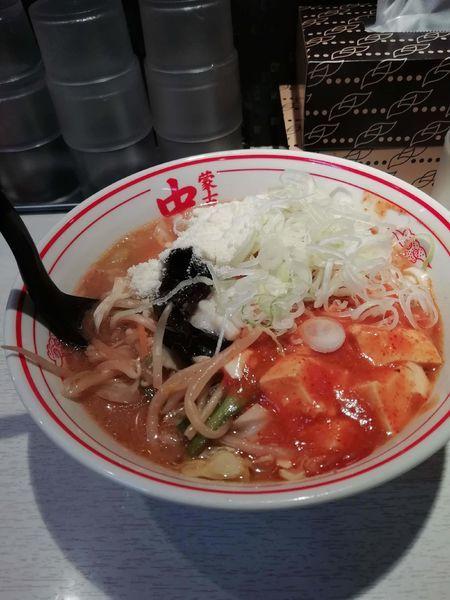 「蒙古タンメン+麺豆腐変更+チーズ+ネギ」@蒙古タンメン中本 品川店の写真