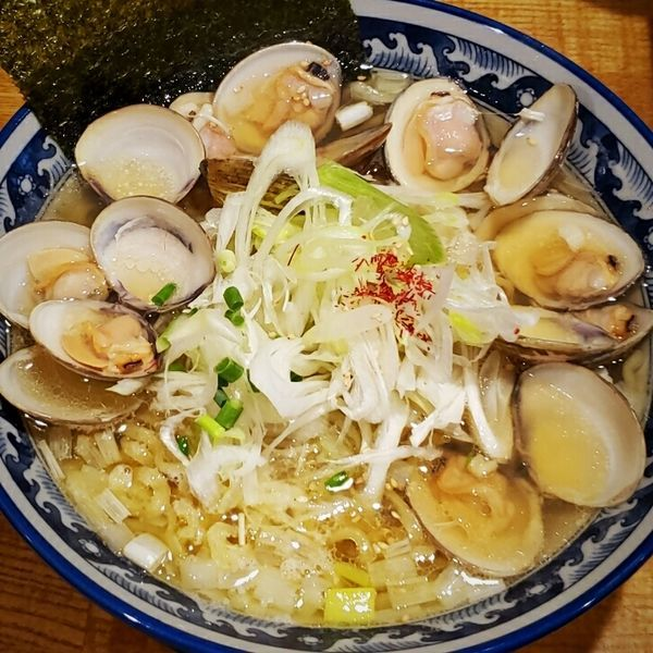 「はまぐりラーメン(大盛り無料) 1000円」@和風楽麺 四代目 ひのでや 大宮店の写真