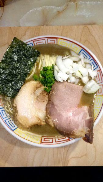 「超煮干そば【濃密】 900円」@あってりめんこうじ 安中原市店の写真