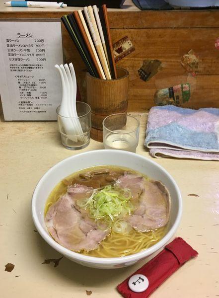 「塩ラーメン」@元祖一条流がんこ 西早稲田店の写真