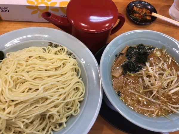 「ネギ味噌つけ麺940円(味薄目酸味無し)」@ラーメンショップ椿 二本松店の写真