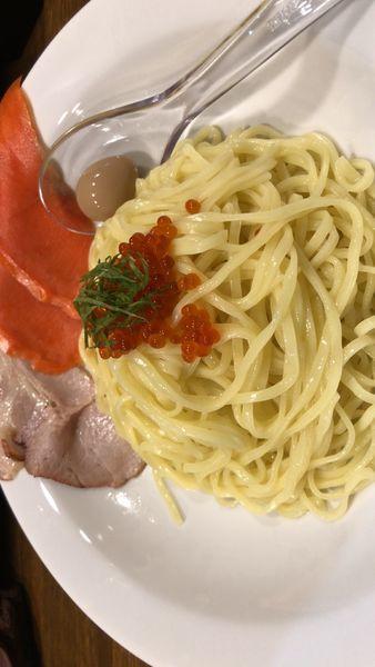 「西京焼鮭つけ麺 麺200g 600円」@Soupmenの写真