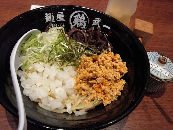「あご節鶏まぜそば780円」@濃厚鶏そば 麺屋武一 北千住店の写真