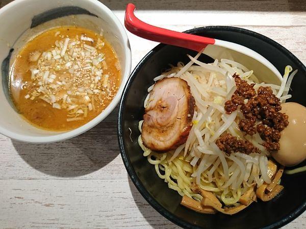 「味噌つけ麺+味玉,もやし(1000円)」@麺屋 誉の写真