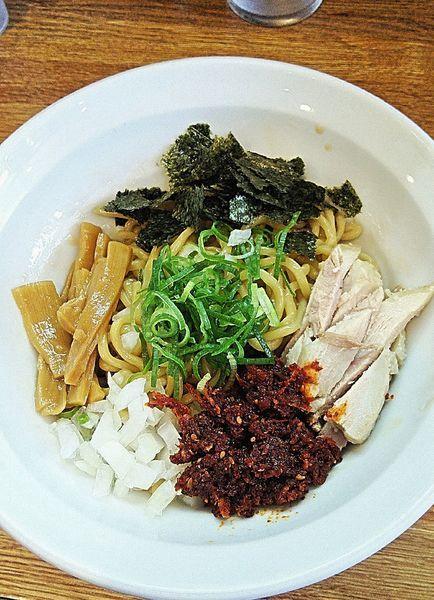 「海老辛油そば 800円」@ラーメン 月麺の写真