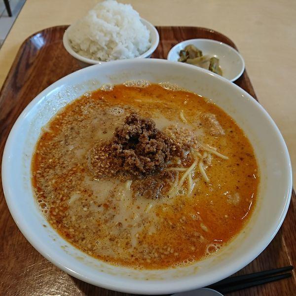 「担々麺 750えん  ライスセット100えん」@金ごま屋の写真