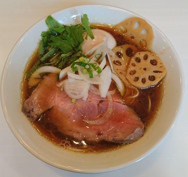 「醤油そば+味玉」@麺や 彩~iro~の写真