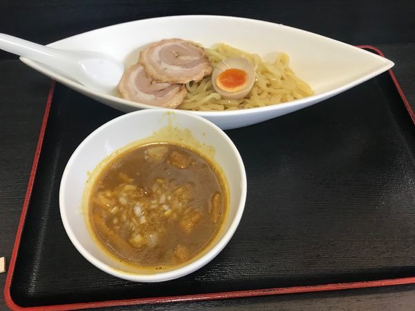 「カレーつけ麺(並)トッピングあり 880円」@めん翔の写真