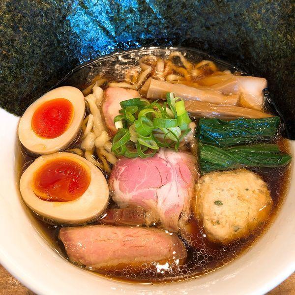 「特製醤油そば (全部のせ) 手揉み麺 ¥1000」@麺処 いち林の写真