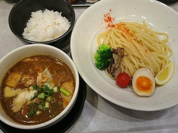 「濃厚カレーつけ麺(小ライス付き)¥930」@GaGana RAMEN 極 渋谷店の写真