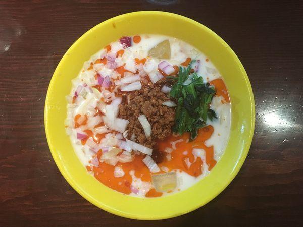 「冷やし豆乳担担担麺+半ライス」@らーめん 惠本将裕の写真