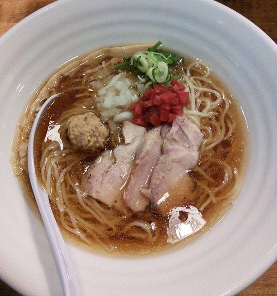 「【限定】冷やし煮干し鶏そば 800円」@麺屋 ゆるり。の写真