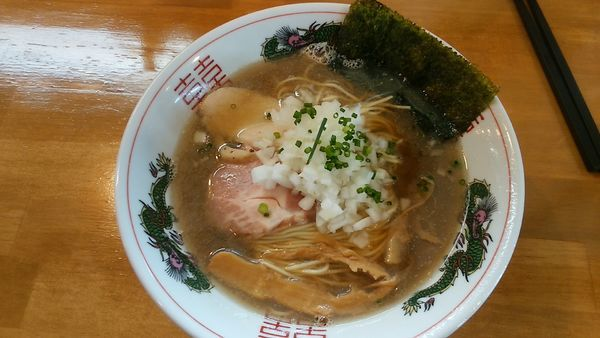 「煮干しそば 780円+和え玉(200円)」@麺屋 謝の写真