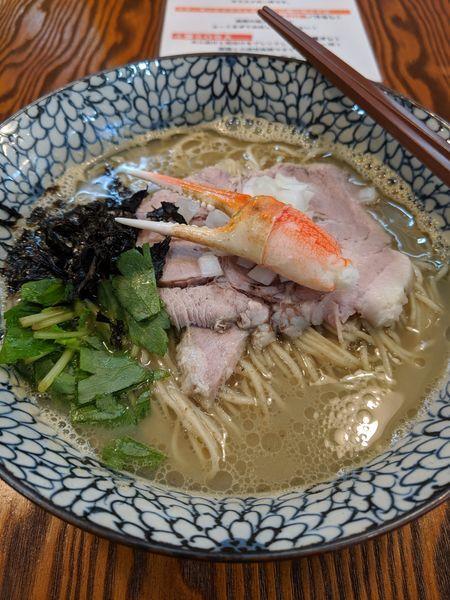 「蟹SOBA」@拉麺 イチバノナカの写真
