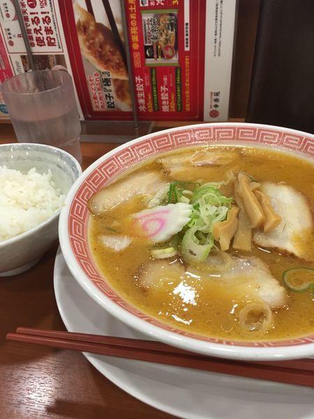 「味噌ラーメン440円ライス170円」@幸楽苑 調布深大寺店の写真