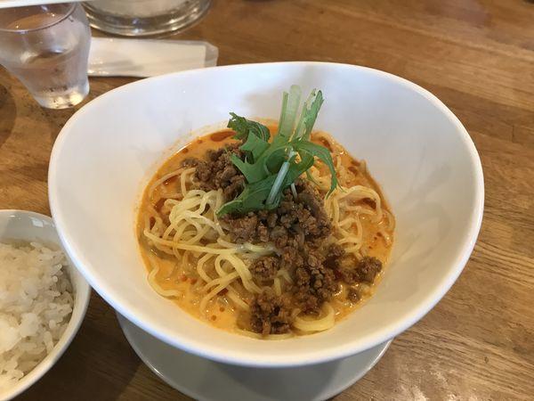 「冷やし豆乳坦々麺」@らーめん屋 Hi-BRiの写真