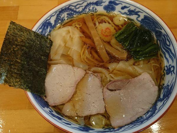 「ワンタン麺」@白河手打中華そば 法隆の写真