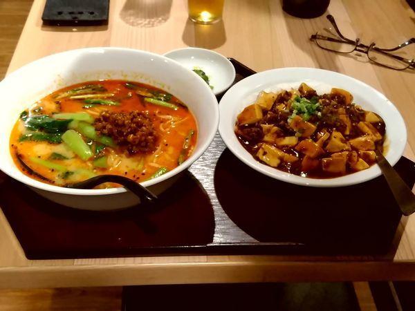 「四川担々麺+麻婆豆腐丼880円」@創作中華料理 名采の写真