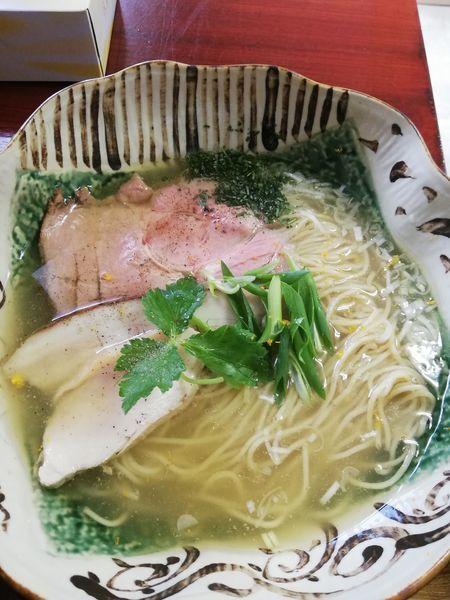「地鶏の塩そば」@創作麺処 スタ★アトの写真