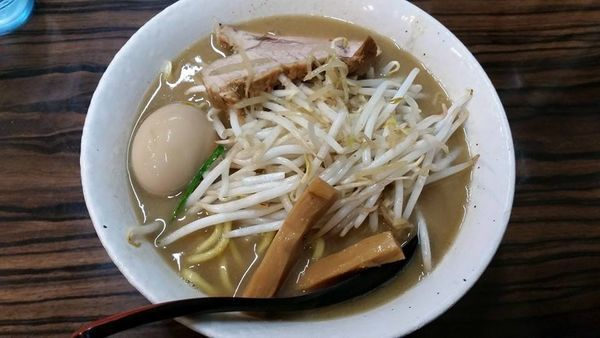 「味噌ラーメン +味玉」@味噌麺処 花道の写真