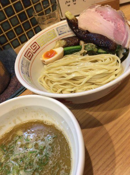 「【限定】紅ズワイガニのみそつけ麺 900円 麺少なめ」@ほっこり中華そば もつけの写真