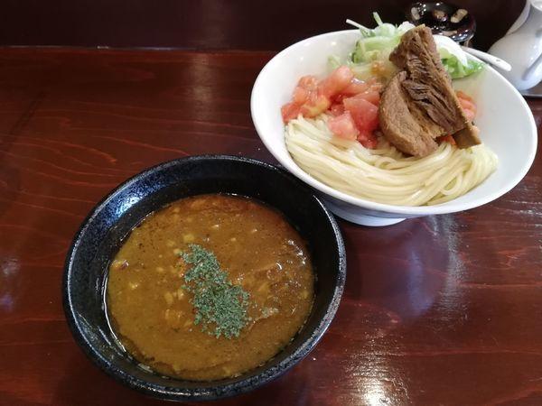 「牛カレーつけ麺ポークチョップ(限定)」@五ノ神精肉店の写真
