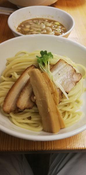 「ネギつけ麺 中盛り」@烏城の写真