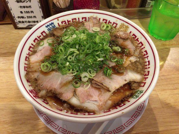 「【限定A】九条ネギのネギチャーシュー麺 850円」@中華そば ムタヒロの写真