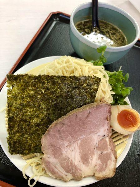 「にぼし出汁つけそば ¥850」@あぢとみ食堂の写真
