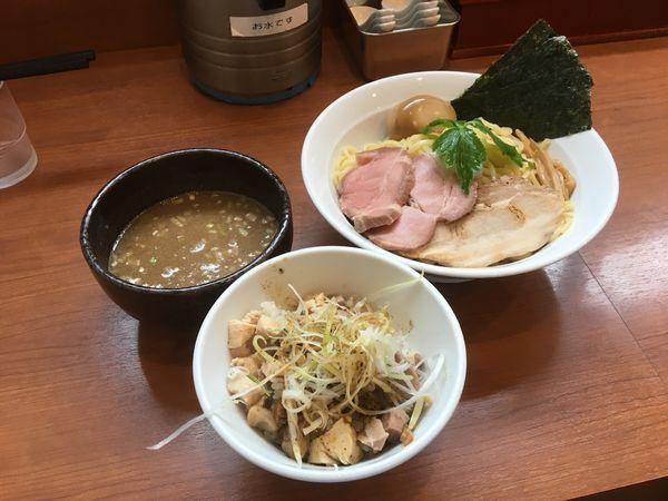 「特製つけ麺 大盛り ランチA」@中華そば 七麺鳥の写真