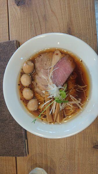 「Kiri_Soba 醤油特製+和え玉(白醤油)」@The Noodles & Saloon Kiriyaの写真