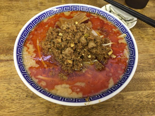 「【限定】挽肉Part2『味噌坦々麺』900えん」@中華蕎麦 丸め 東久留米店の写真